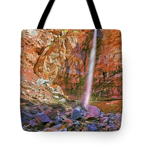 Telluride, Colorado's Cornet Falls - Colorful Colorado - Waterfall Tote Bag by Jason Politte