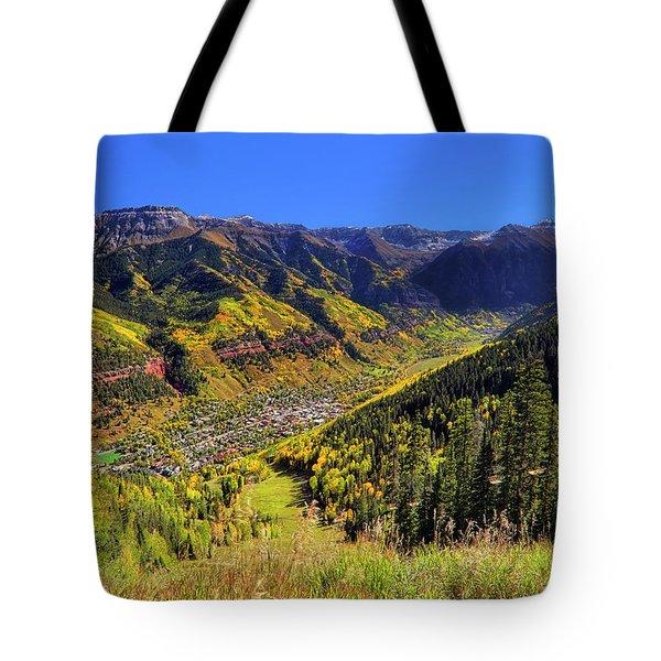 Telluride In Autumn - Colorful Colorado - Landscape Tote Bag by Jason Politte