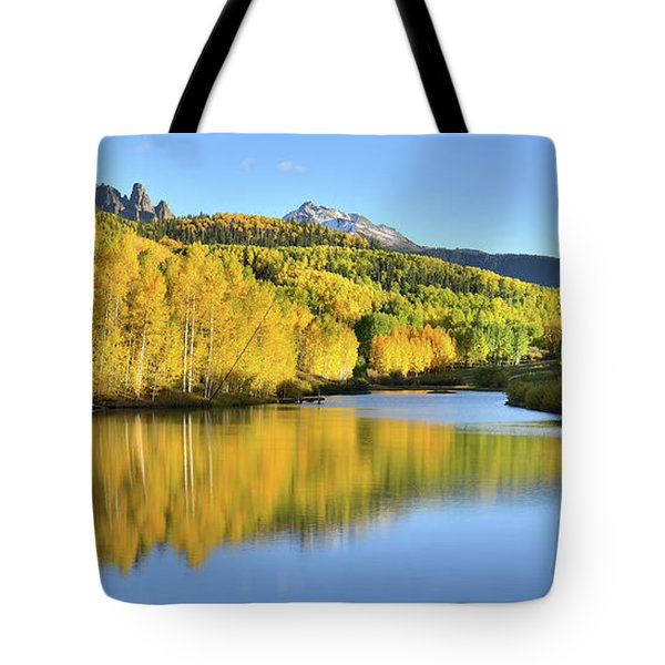 Tote Bag featuring the photograph Telluride Mountain Lake by Ray Mathis