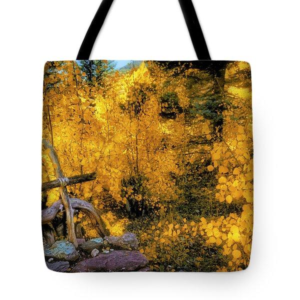 Tote Bag featuring the photograph Telluride Spirituality - Colorado - Autumn Aspens by Jason Politte