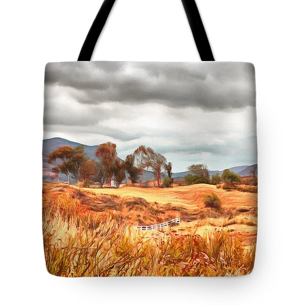 Tote Bag featuring the painting Temecula Wilderness by Viktor Savchenko