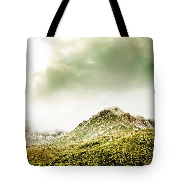 Temperate Alpine Terrain Tote Bag
