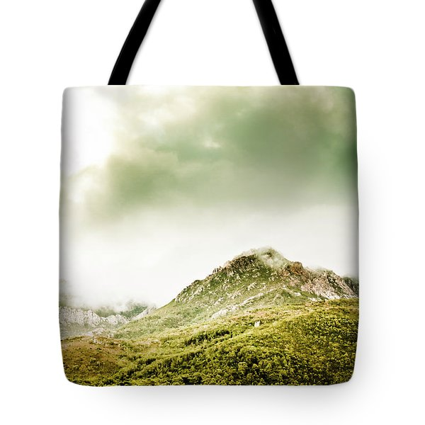 Temperate Alpine Terrain Tote Bag