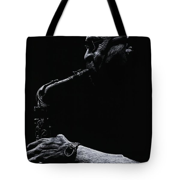 Temperate Sax Tote Bag by Richard Young