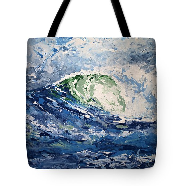 Tempest Abstract Tote Bag