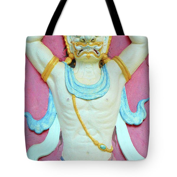 Temple Art In Thailand Tote Bag