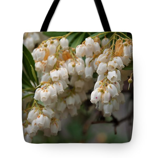 Tote Bag featuring the photograph Temple Bells Andromedia by Chris Flees