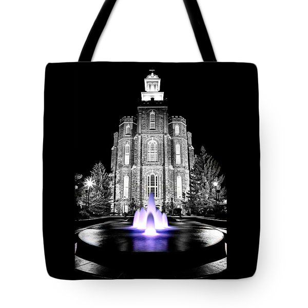 Temple Fountain  Tote Bag by David Andersen