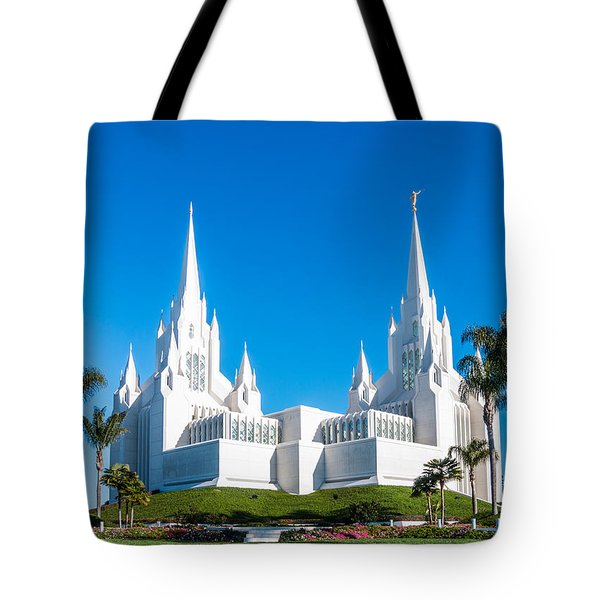 Tote Bag featuring the photograph Temple Glow by Patti Deters