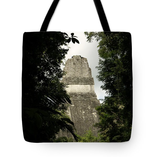 Temple In The Trees Tikal Guatemala Tote Bag