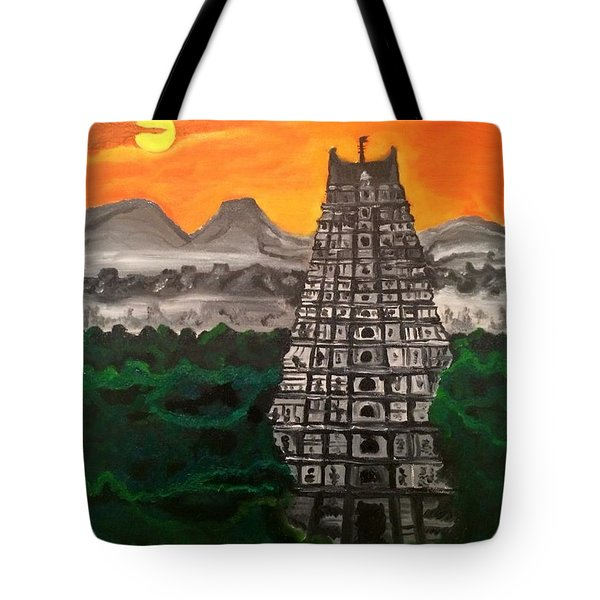 Temple Near The Hills Tote Bag