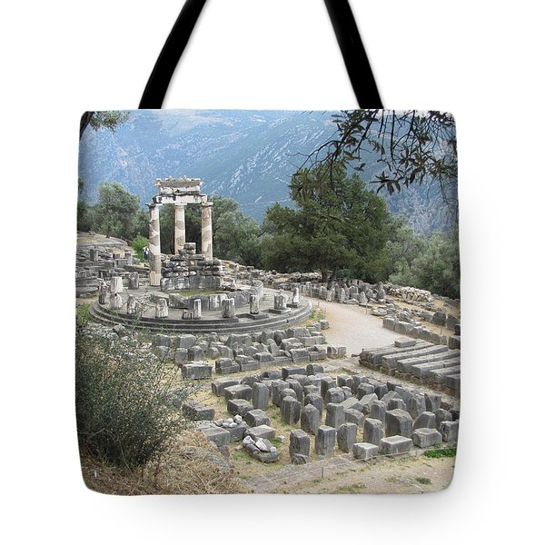 Temple Of Athena At Delphi Tote Bag