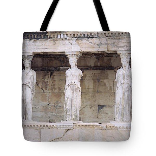 Temple Of Athena Nike Erectheum Tote Bag