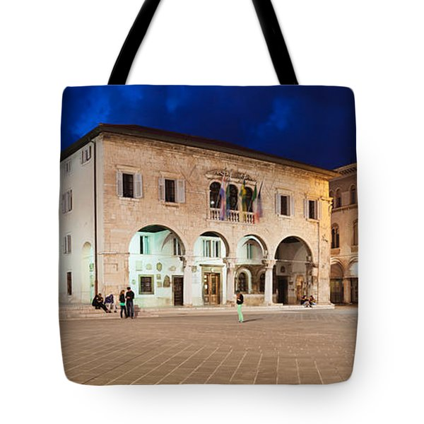 Temple Of Augustus And Town Hall Tote Bag