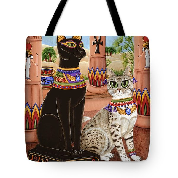 Temple Of Bastet - Bast Goddess Cat Tote Bag