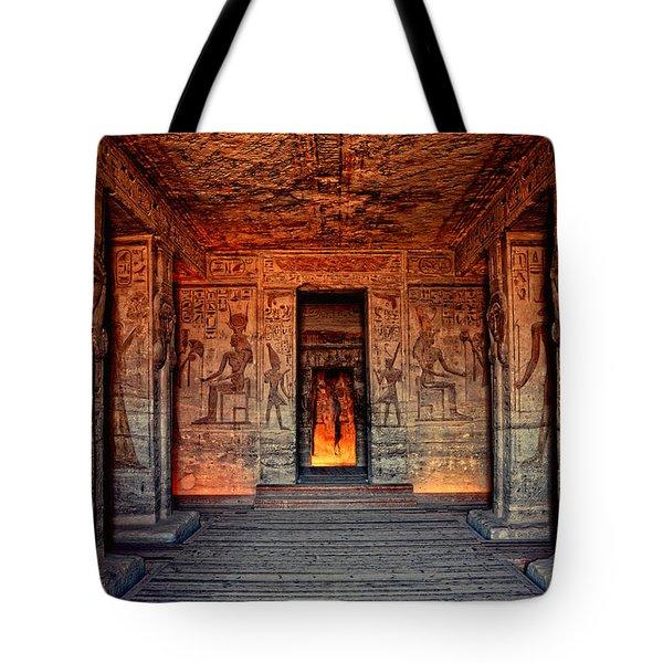 Temple Of Hathor And Nefertari Abu Simbel Tote Bag