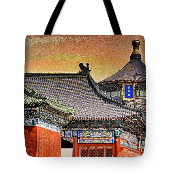 Temple Of Heaven Tote Bag by Dennis Cox ChinaStock