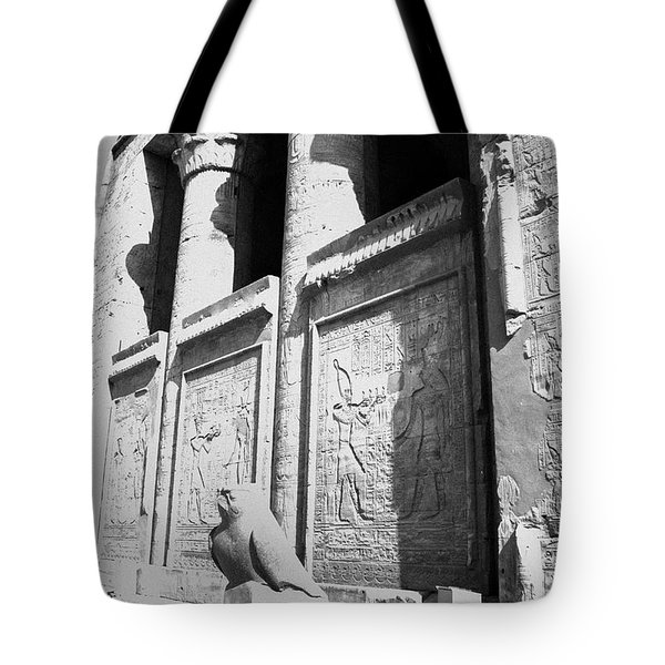 Tote Bag featuring the photograph Temple Of Horus by Silvia Bruno