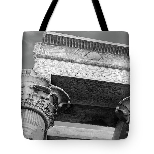 Tote Bag featuring the  Temple Of Kom Ombo by Silvia Bruno