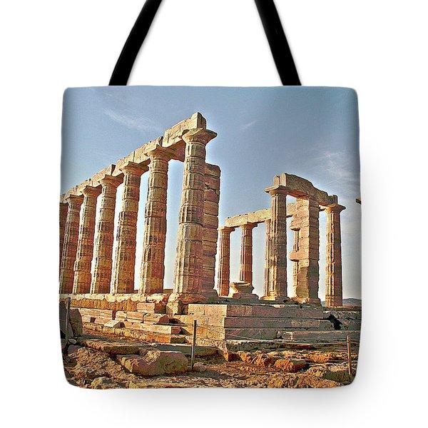 Temple Of Poseidon - Cape Sounion, Greece Tote Bag