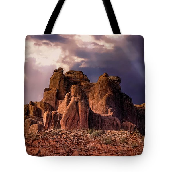 Temple Of Red Stone Tote Bag