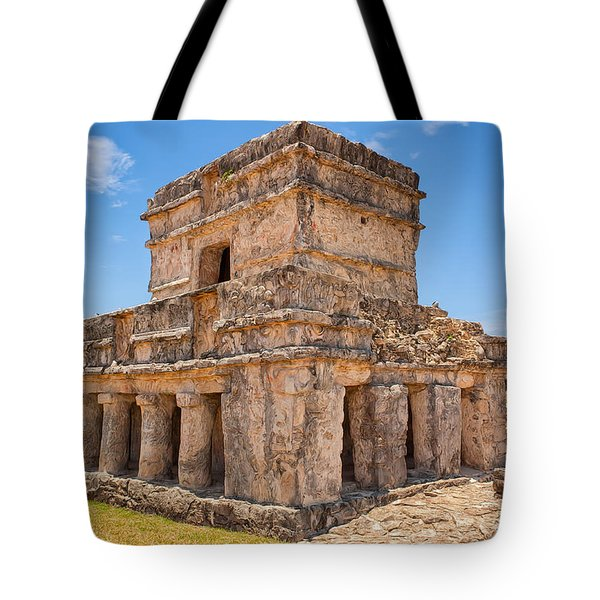 Temple Of The Frescos Tote Bag