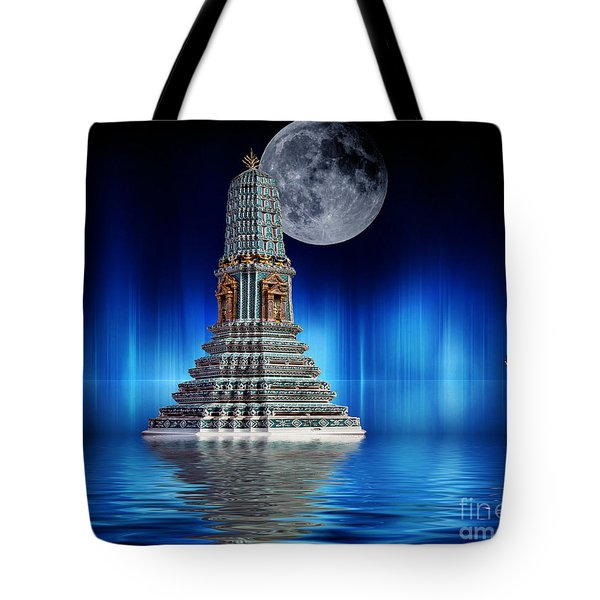Temple Of The Moon Tote Bag