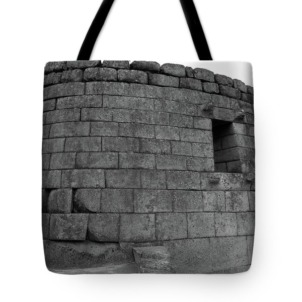 Tote Bag featuring the photograph Temple Of The Sun, Machu Picchu, Peru by Aidan Moran