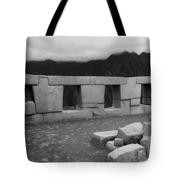 Tote Bag featuring the photograph Temple Of The Three Windows by Aidan Moran