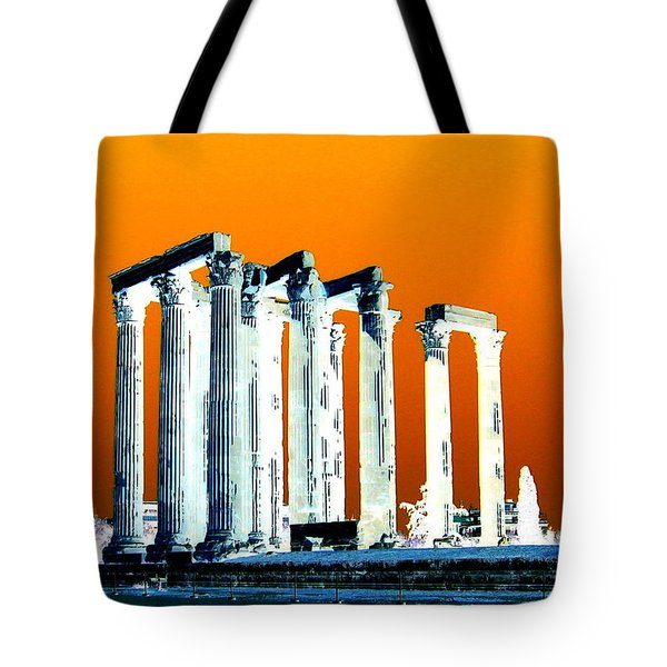 Temple Of Zeus Tote Bag