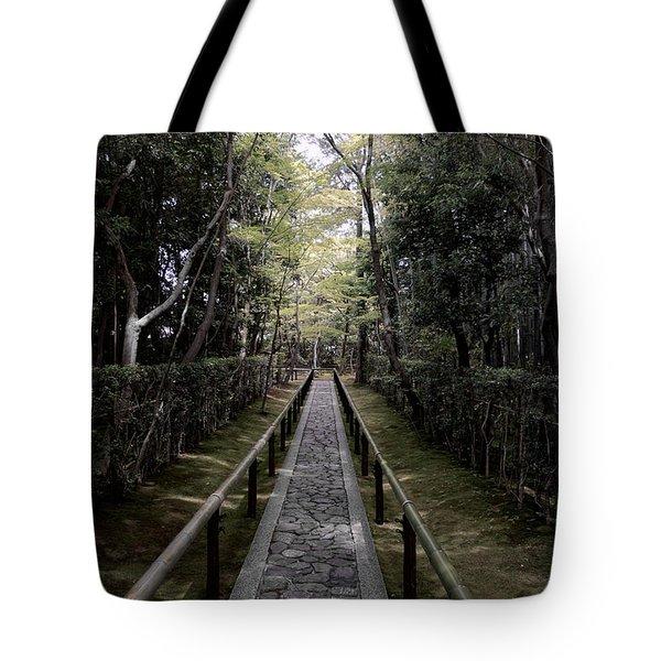 Temple Path - Kyoto Japan Tote Bag