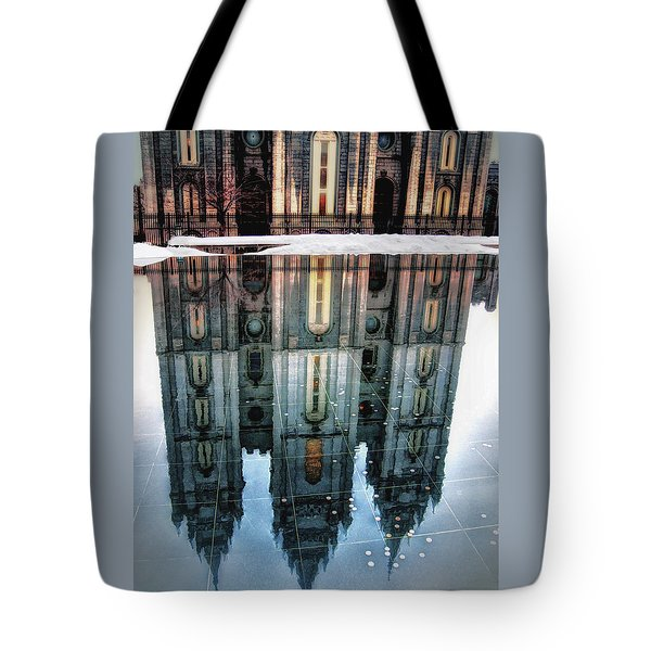 Temple Reflection Tote Bag by Jim Hill