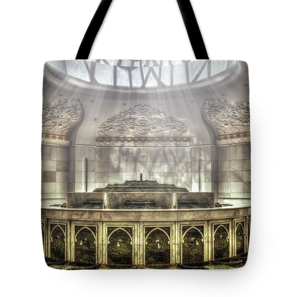 Temple Washroom Tote Bag