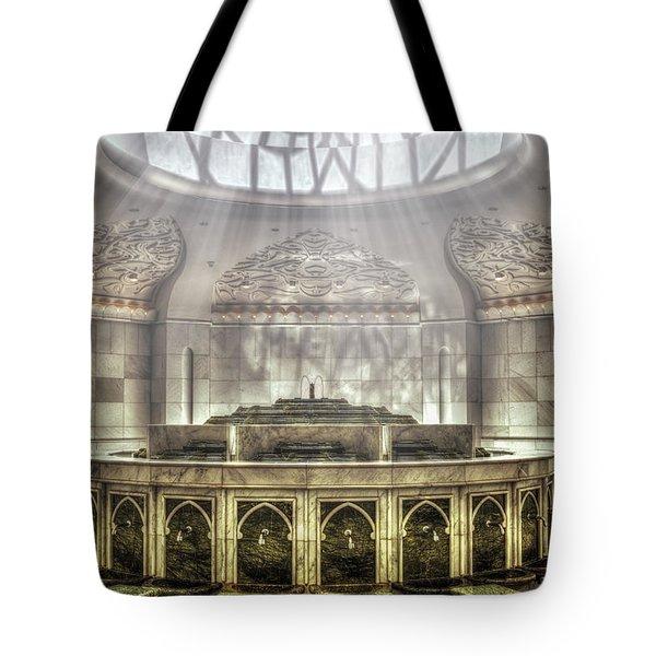 Temple Washroom Tote Bag by John Swartz