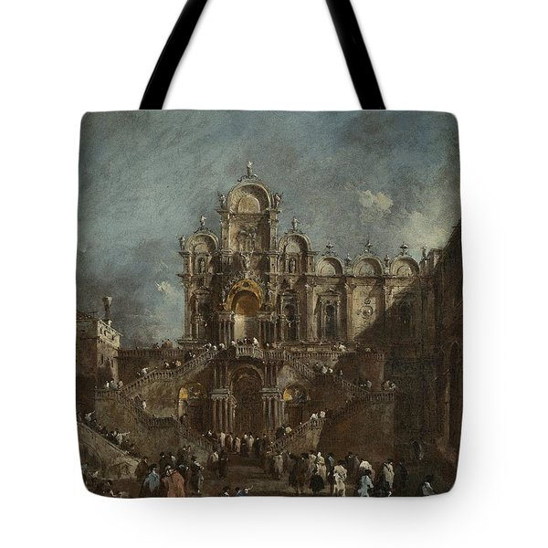 Temporary Tribune In The Campo San Zanipolo - Venice Tote Bag
