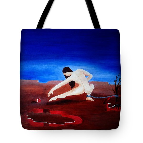 Temptation And Ancestral Fear Of Hell Tote Bag