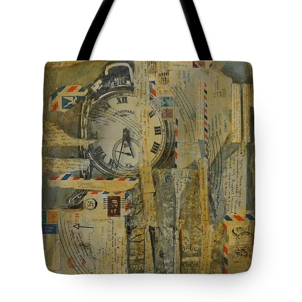 Tote Bag featuring the painting Tempus Fugit by Jillian Goldberg