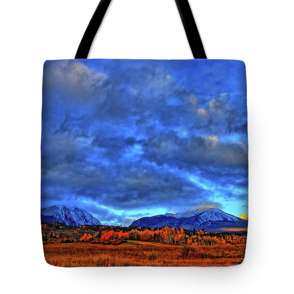 Tote Bag featuring the photograph Ten Mile Of Fall Colors by Scott Mahon