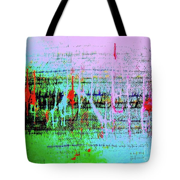 Tote Bag featuring the painting Ten On The Richter by Roberto Prusso