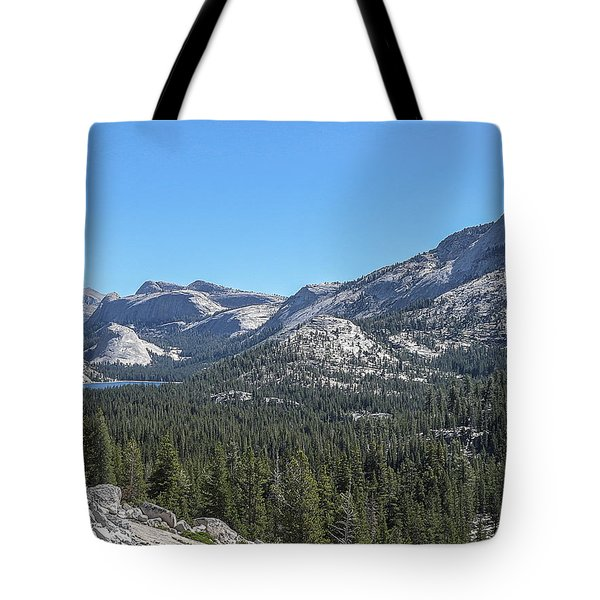 Tenaya Lake And Surrounding Mountains Yosemite National Park Tote Bag