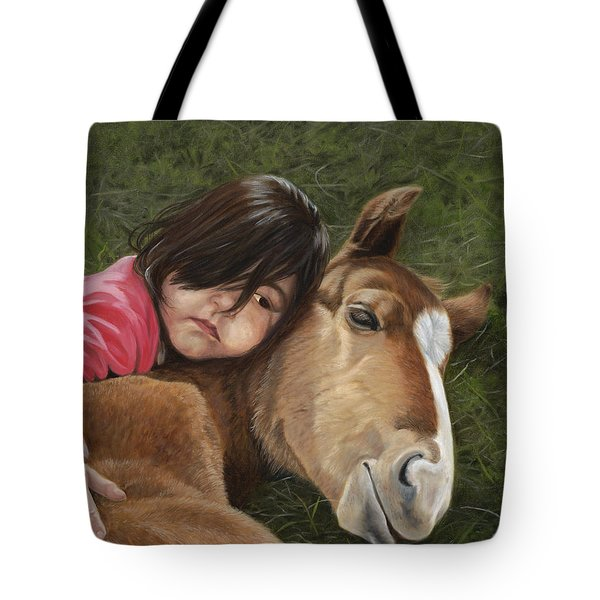 Tote Bag featuring the painting Tender Love by Tammy Taylor