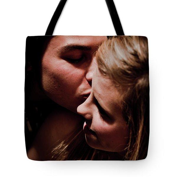 Tender Smooch Tote Bag by Scott Sawyer