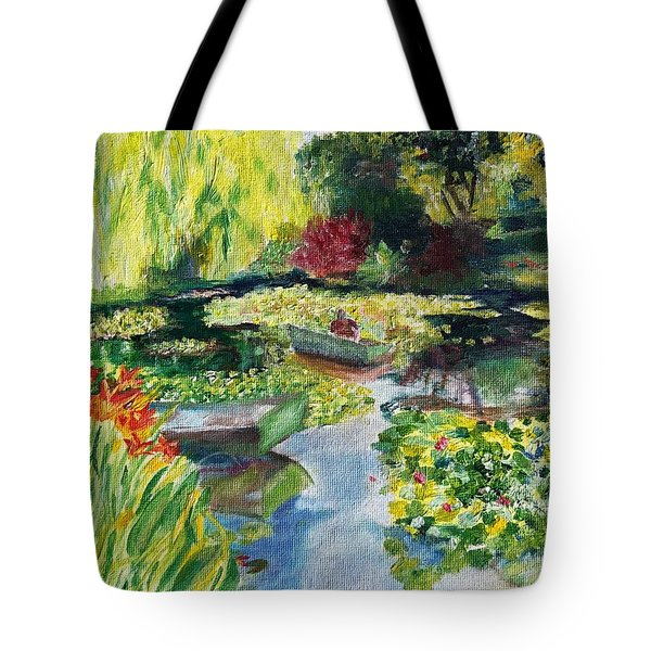 Tending The Pond Tote Bag