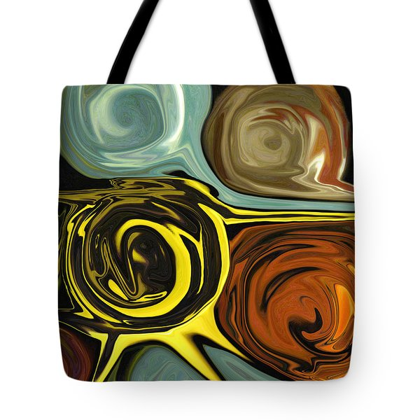 Tote Bag featuring the digital art Tendrils by Mary Bedy