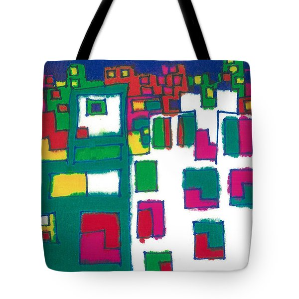 Tote Bag featuring the painting Tenements by Don Koester