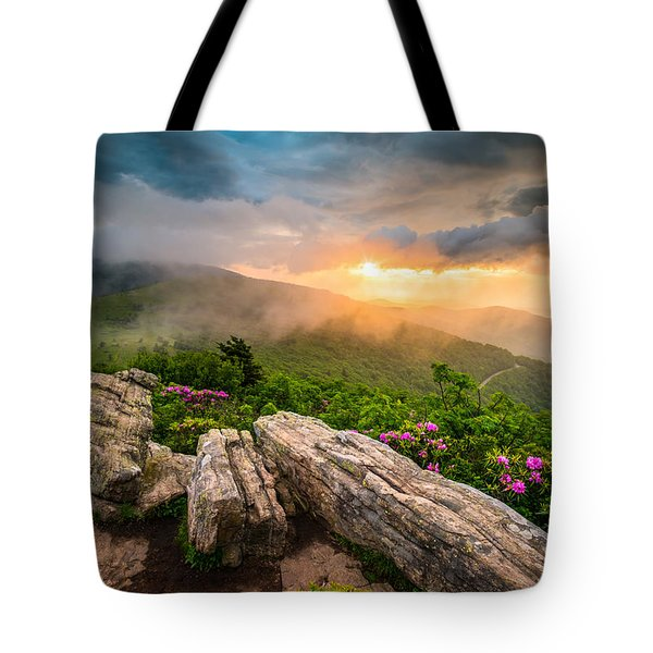 Tennessee Appalachian Mountains Sunset Scenic Landscape Photography Tote Bag