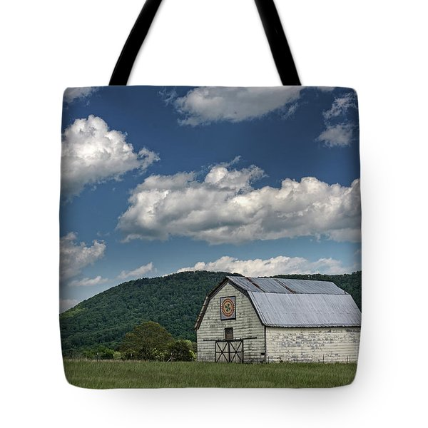 Tennessee Barn Quilt Tote Bag