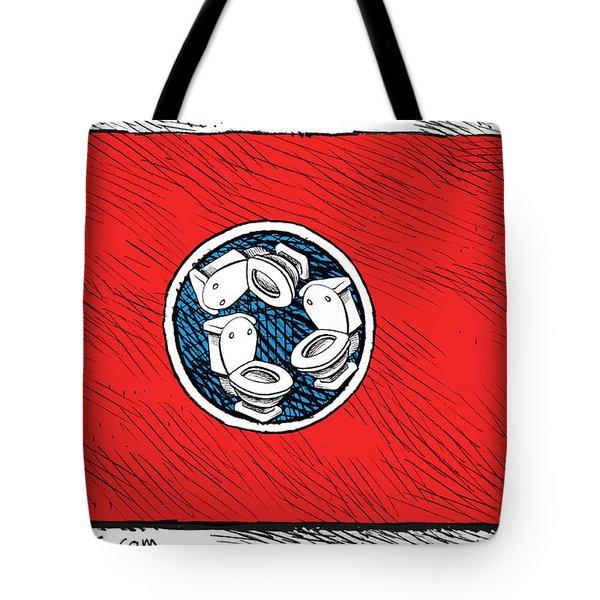 Tennessee Bathroom Flag Tote Bag