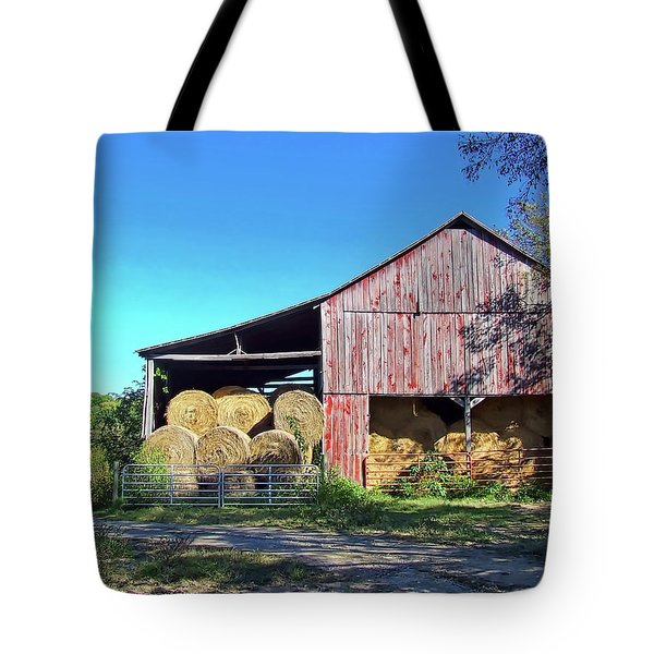 Tennessee Hay Barn Tote Bag