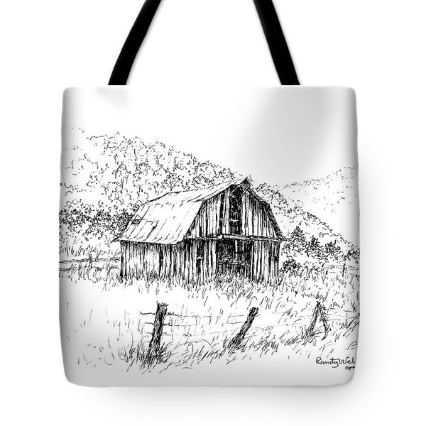 Tennessee Hills With Barn Tote Bag